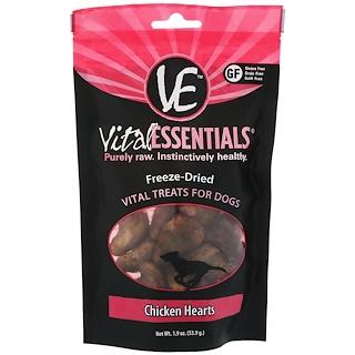 Vital Essentials, Сублимированное лакомство для собак, куриные сердечки, 53,9 г