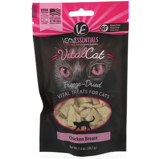 Vital Essentials, Vital Cat, Freeze-Dried Treats For Cats, Chicken Breast, 1.0 oz (28.3 g)