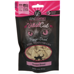 Vital Essentials, Vital Cat, Freeze-Dried Treats For Cats, Chicken Breast, 1.0 oz (28.3 g) отзывы
