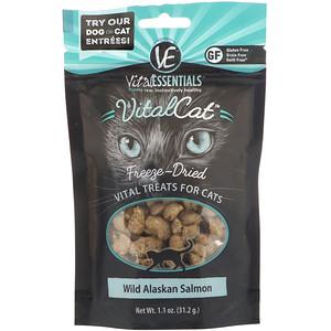 Vital Essentials, Vital Cat, Freeze-Dried Treats For Cats, Wild Alaskan Salmon, 1.1 oz (31.2 g) отзывы