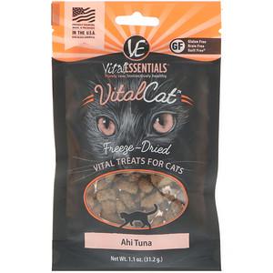 Vital Essentials, Vital Cat, Freeze-Dried Treats For Cats, Ahi Tuna, 1.1 oz (31.2 g) отзывы