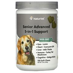NaturVet, 老年犬專用 5 合 1 高級健康支持軟糖,120 粒裝,12.6 盎司(360 克)