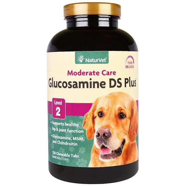 NaturVet, Glucosamine DS Plus, Moderate Care, Level 2, 120 Chewable Tabs, 12.6 oz (360 g) (Discontinued Item)