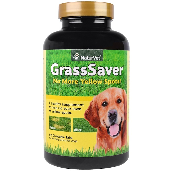 NaturVet, GrassSaver, 500 Chewable Tabs, 8.8 oz (250 g) (Discontinued Item)