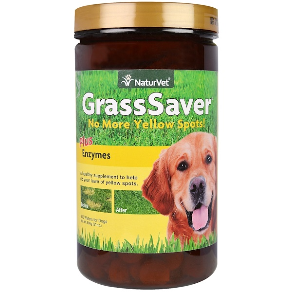 NaturVet, GrassSaver Plus Enzymes, 300 Wafers, 21 oz (600 g) (Discontinued Item)