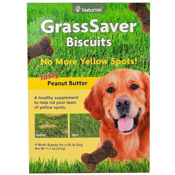 NaturVet, GrassSaver Biscuits, Tasty Peanut Butter, 46 Biscuits, 11.1 oz (315 g) (Discontinued Item)