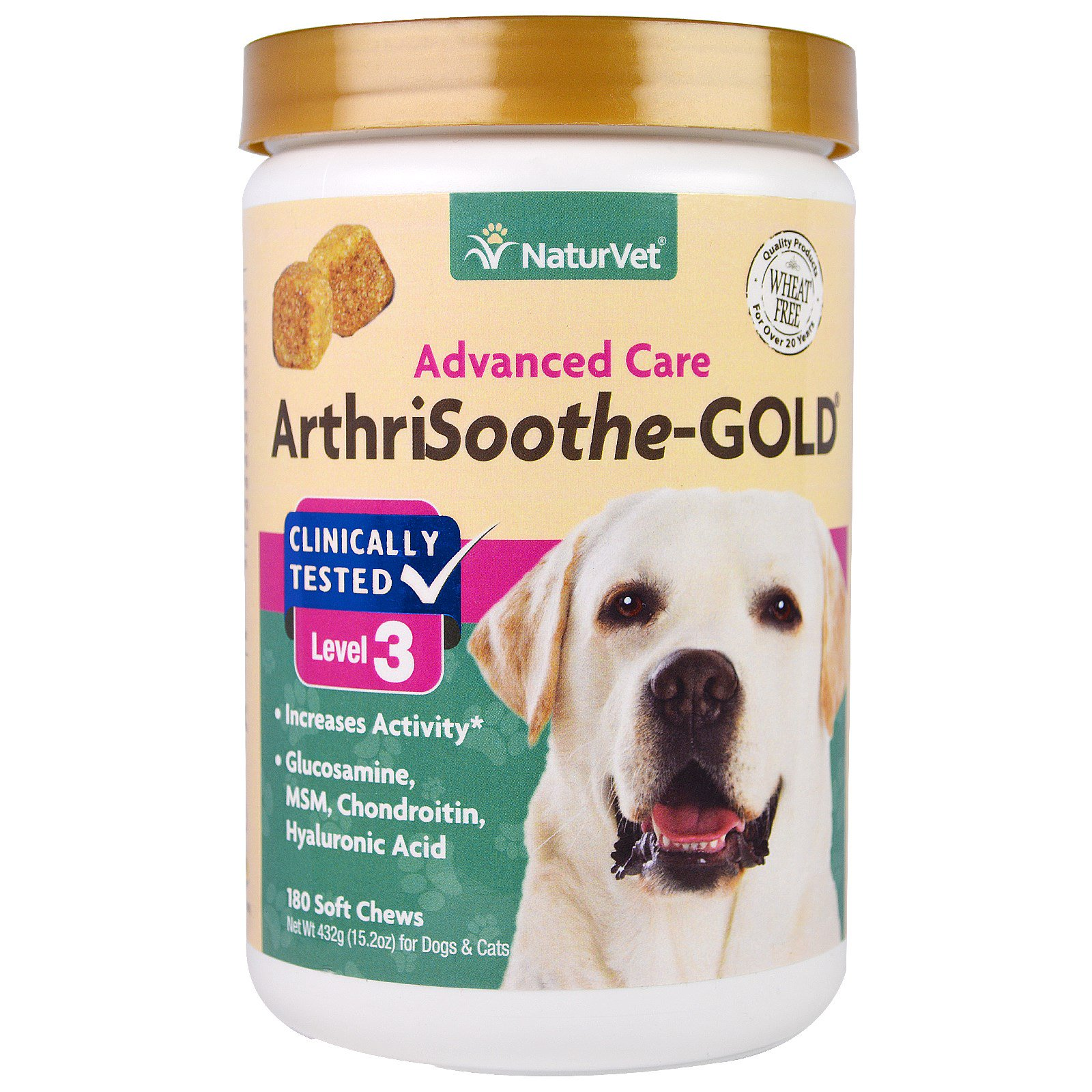 Naturvet Arthrisoothe Gold Advanced Care Level 3 180 Soft Chews