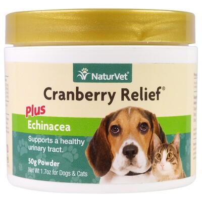 NaturVet Клюква плюс эхинацея, для здоровья мочевого пузыря у собак и кошек, 1,7 унции (50 г) порошок