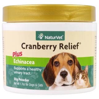 NaturVet, Cranberry Relief Plus Echinacea, For Dogs & Cats, 1.7 oz (50 g) Powder