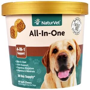 НатурВет, All-In-One, 4-In-1 Support, 60 Soft Chews, 8.4 oz. (240 g) отзывы покупателей