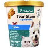 Отзывы о NaturVet, Для удаления слезных пятен у кошек и собак + лютеин, жевательные таблетки, 5.4 унции(154 г)