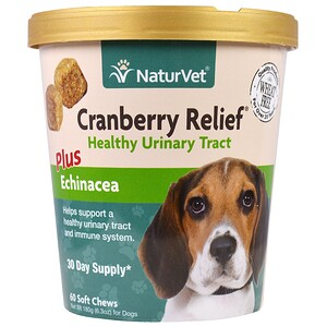 НатурВет, Cranberry Relief For Dogs Plus Echinacea, 60 Soft Chews, 6.3 oz (180 g) отзывы покупателей