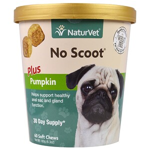 НатурВет, No Scoot for Dogs, Plus Pumpkin, 60 Soft Chews, 6.3 oz (180 g) отзывы