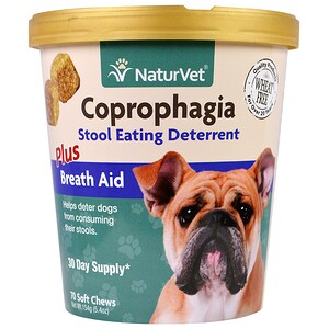НатурВет, Coprophagia, Stool Eating Deterrent Plus Breath Aid, 70 Soft Chews, 5.4 oz (154 g) отзывы покупателей
