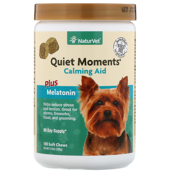 Quiet Moments,  Calming Aid Plus Melatonin, 180 Soft Chews