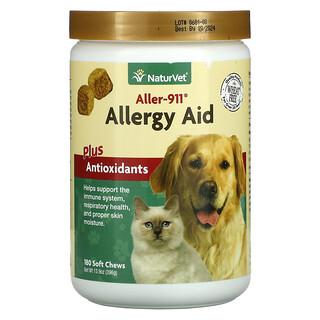 NaturVet, Aller-911, Allergy Aid Plus Antioxidants, 180 Soft Chews, 13.9 oz (396 g)