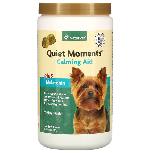 Quiet Moments, Calming Aid Plus Melatonin, 240 Soft Chews, 18.6 oz (528 g)