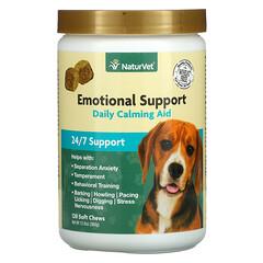 NaturVet, Emotional Support,每日鎮靜輔助,120 片軟咀嚼片,12.6 盎司(360 克)