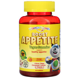 Витамин Фриендс, Boost Appetite Vegan Gummies, Orange Natural Flavor, 60 Gummies отзывы