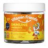 Vitamin Friends, Immune Probiotic, Vegan Gummies, Orange, 60 Pectin Gummies