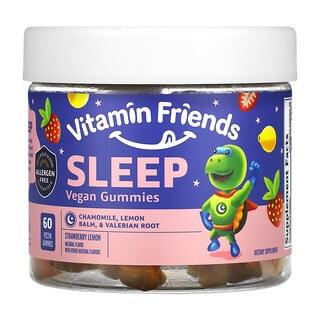 Vitamin Friends, Sleep Vegan Gummies, Strawberry Lemon, 60 Pectin Gummies