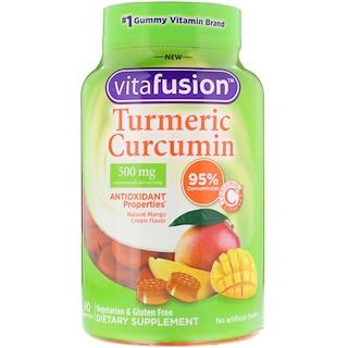 VitaFusion, Turmeric Curcumin, Natural Mango Cream Flavor, 500 mg, 60 Gummies