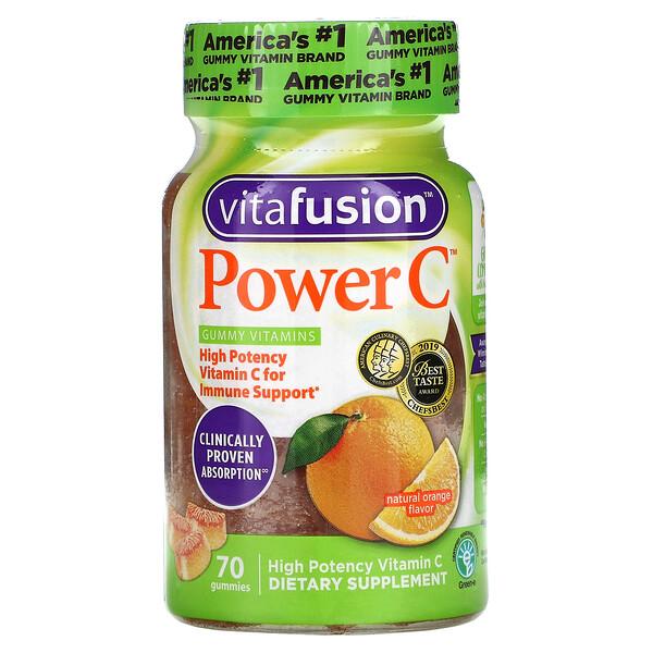 VitaFusion, Power C, Natural Orange , 70 Gummies