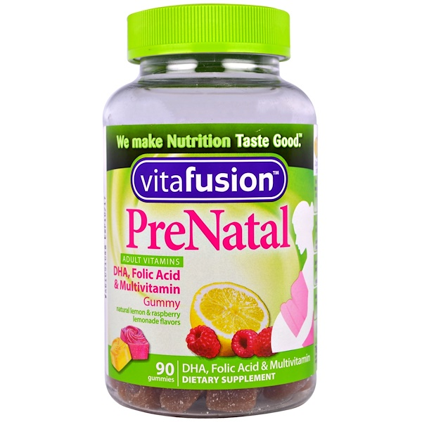 PreNatal, DHA, Folic Acid & Multivitamin, 90 Gummies