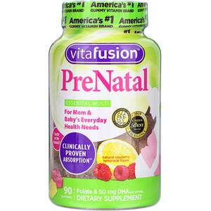 ВитаФьюжен, PreNatal, Folate & DHA, Natural Raspberry Lemonade Flavor, 90 Gummies отзывы