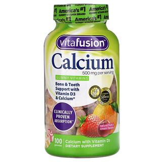 VitaFusion, Calcium, Natural Fruit & Cream Flavors, 250 mg, 100 Gummies