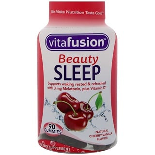 VitaFusion, Beauty Sleep, Natural Cherry-Vanilla Flavor, 90 Gummies