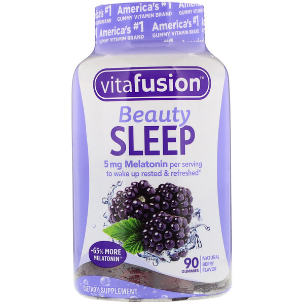 VitaFusion, Beauty Sleep, Natural Berry Flavor, 90 Gummies (Discontinued Item)