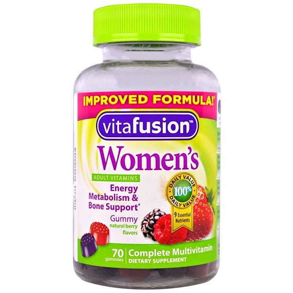 VitaFusion, Women's Complete Multivitamin, Natural Berry Flavors, 70 Gummies
