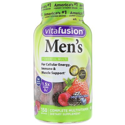 Купить VitaFusion Комплексные мультивитамины для мужчин, натуральные ягодные вкусы, 150 жевательных таблеток