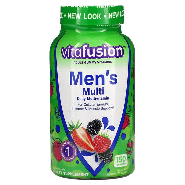 VitaFusion, Men's Multi, Daily Multivitamin, Natural Berry, 150 Gummies