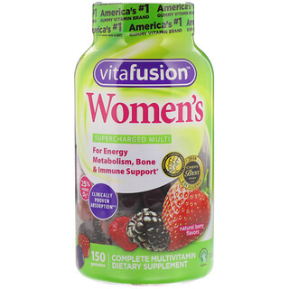 VitaFusion, Women's Gummy Vitamins, Natural Berry Flavors, 150 Gummies