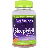 SleepWell, средство, улучшающее сон, для взрослых, 60 жевательных таблеток - фото