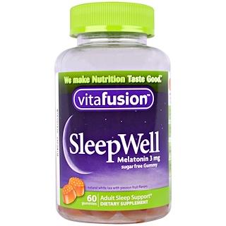 VitaFusion, النوم الجيد، دعم لنوم البالغين، 60 قطعة حلوى