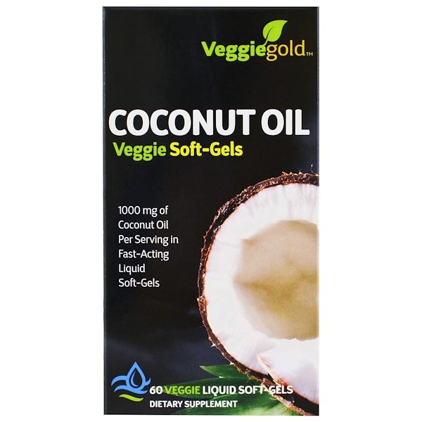 Irwin Naturals, Coconut Oil, 60 Veggie Liquid Soft-Gels (Discontinued Item)
