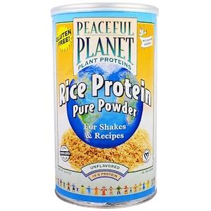 VegLife, Чистый протеиновый порошок из риса, неароматизированный, 20.4 унции(580 г)