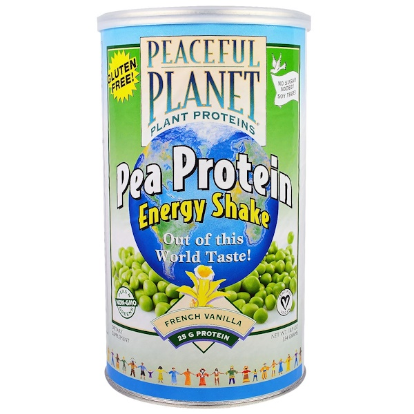 VegLife, Pea Protein Energy Shake, French Vanilla, 18.9 oz (534 g) (Discontinued Item)