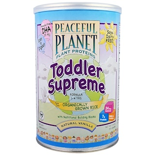 VegLife, Toddler Supreme Formula, 1-4 Years, Natural Vanilla, 14 oz (397 g)