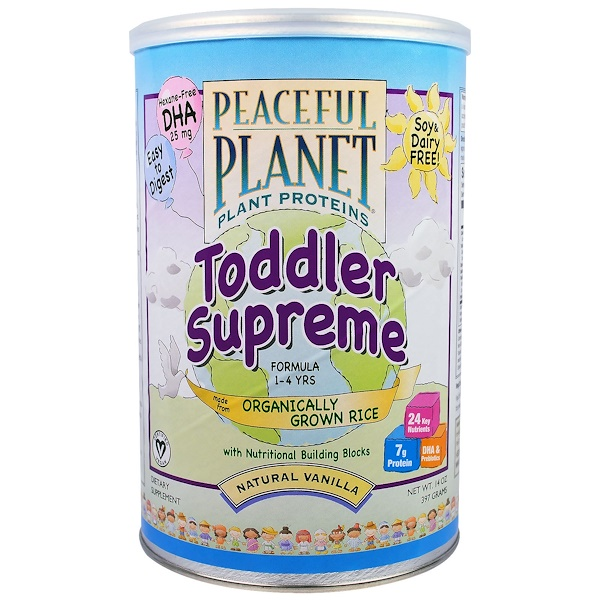 VegLife, Toddler Supreme Formula, 1-4 Years, Natural Vanilla, 14 oz (397 g) (Discontinued Item)