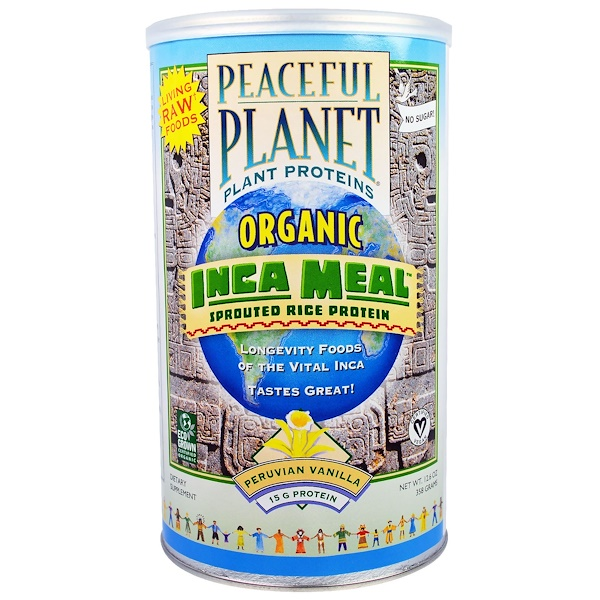 VegLife, Organic, Inca Meal, Sprouted Rice Protein, Peruvian Vanilla, 12.6 oz (358 g) (Discontinued Item)