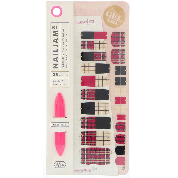 Vika Nailjam, Gel Nail Strips For Nails & Toenails, Fashion Week, 38 Strips