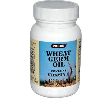 Viobin, Aceite de germen de trigo, 340 mg, 100 cápsulas