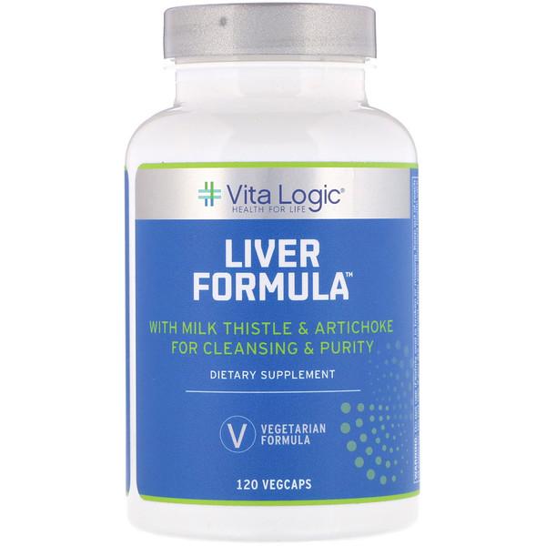 肝臓フォーミュラ、植物性カプセル120錠