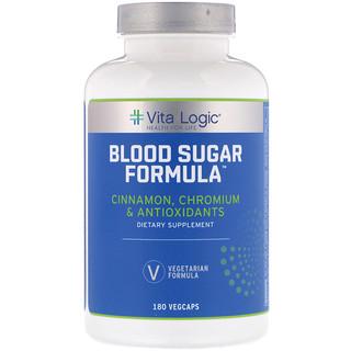 Vita Logic, تركيبة سكر الدم، 180 كبسولة