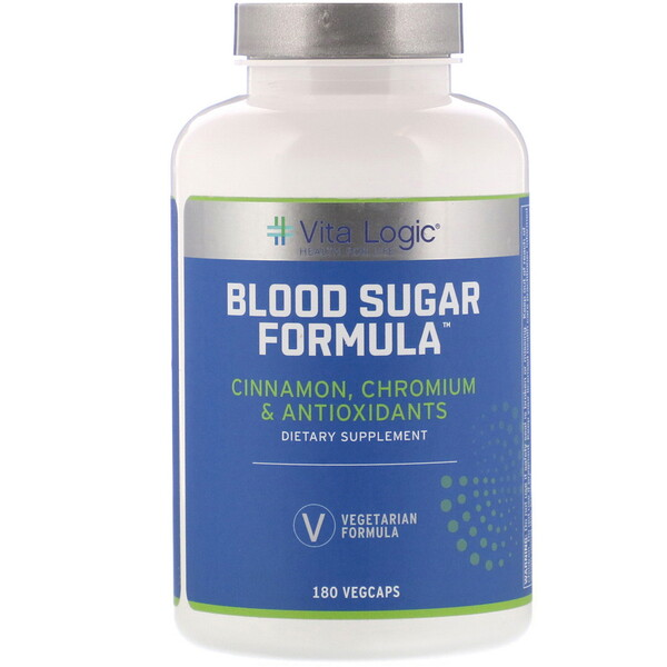Vita Logic, Blood Sugar Formula, 180 Vegcaps (Discontinued Item)