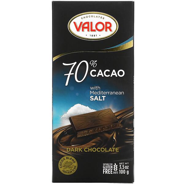 Dark Chocolate, 70% Cacao with Mediterranean Salt, 3.5 oz (100 g)